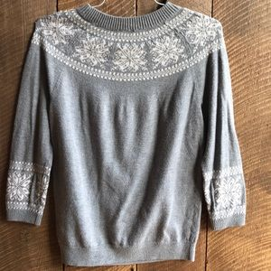 Women's Size M Talbots 3/4 Sleeve Crewneck Sweater